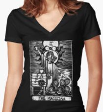The Magician - Tarot Cards - Major Arcana Women's Fitted V-Neck T-Shirt