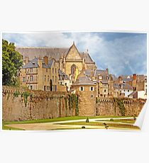 Remparts and City Skyline of Vannes - Morbihan France Poster