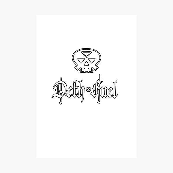 deth fuel: logo and letters Photographic Print