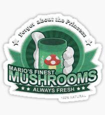 Mario's Finest Mushrooms Sticker