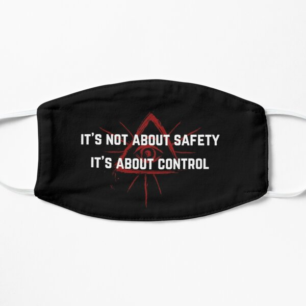 Not About Safety Red All Seeing Eye Mask