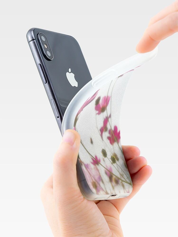 Alternate view of Pink flowers iPhone Case & Cover