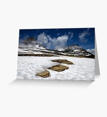 Glacier Stepping Stones Greeting Card