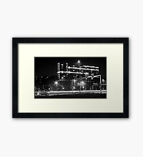 Intersection and cars Framed Print