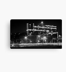 Intersection and cars Canvas Print