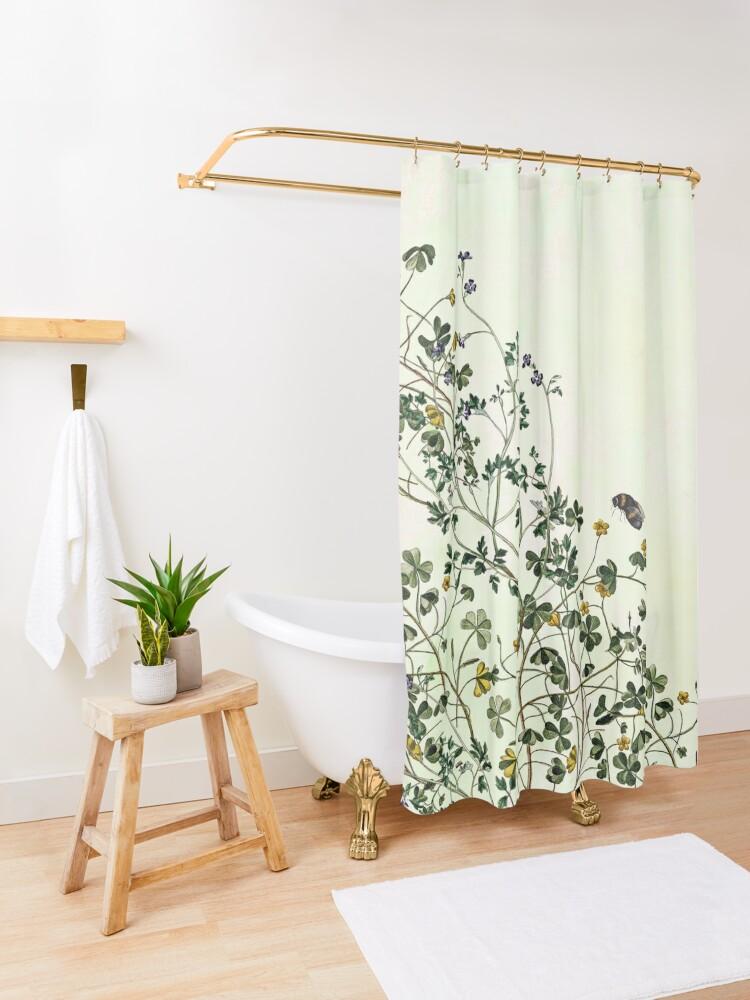Alternate view of Overgrowing my garden Shower Curtain