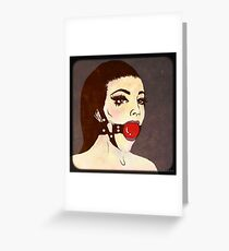 Tell me you love me Greeting Card