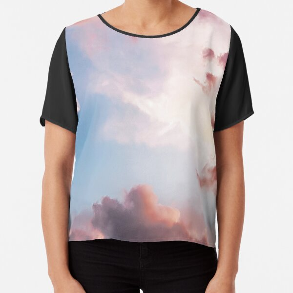 Pink clouds Chiffon Top