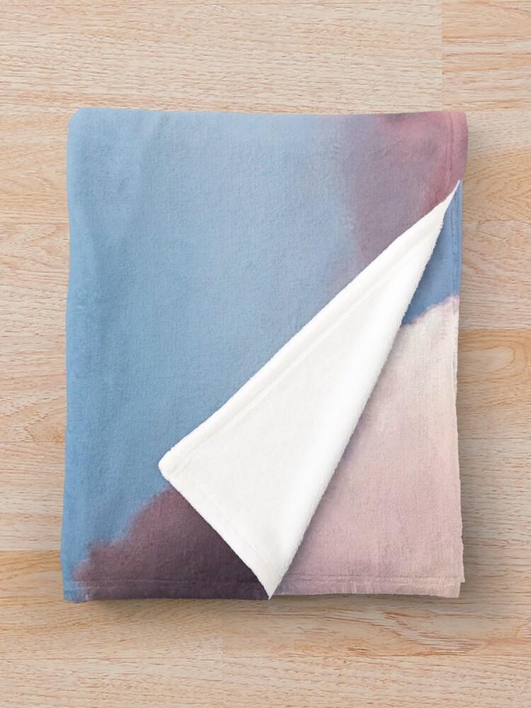 Alternate view of Pink clouds Throw Blanket