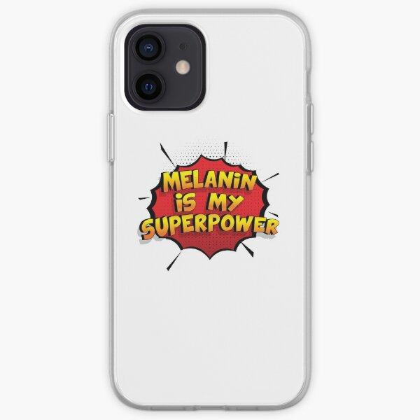 Melanin ist mein Superpower Lustiges Melanin Designgeschenk iPhone Flexible Hülle
