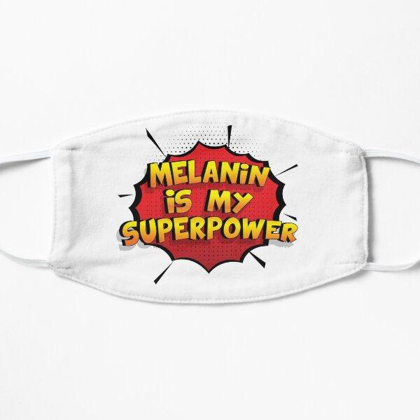 Melanin ist mein Superpower Lustiges Melanin Designgeschenk Flache Maske
