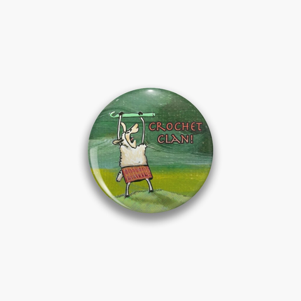 Clannad the Crochet Clan Sheep Pin