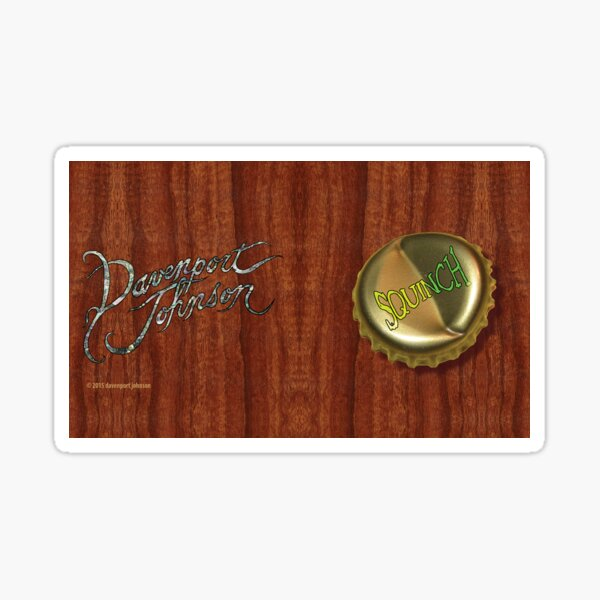 "Davenport Johnson ""SQUINCH"" CD Mug Sticker"