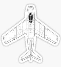 Mikoyan MiG-15 Blueprint Sticker