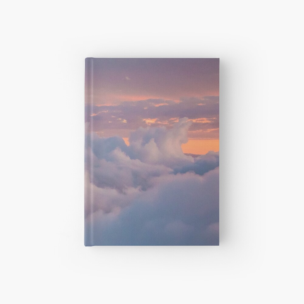 Blue cloudy sky Hardcover Journal