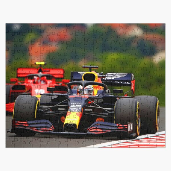 Max Verstappen in front of Charles Leclerc during the 2020 Hungarian Grand Prix Jigsaw Puzzle
