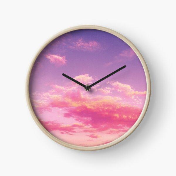 Purple sky, pink clouds Clock