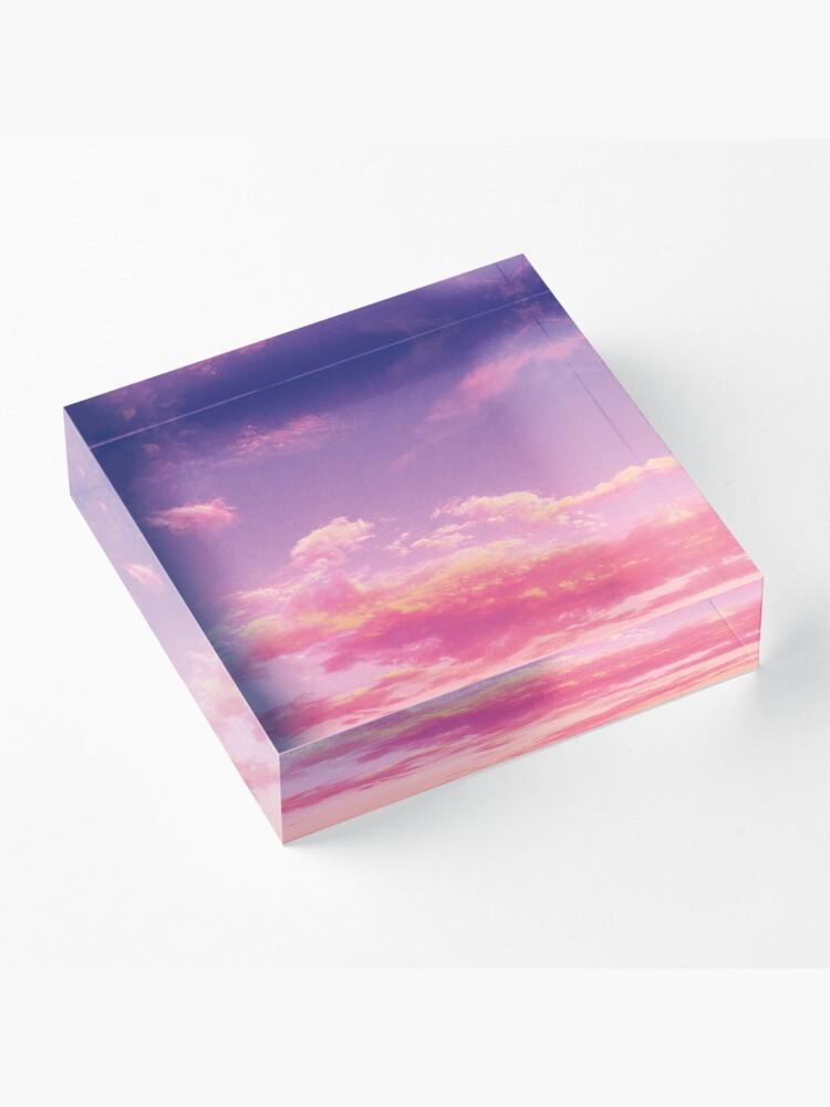 Alternate view of Purple sky, pink clouds Acrylic Block