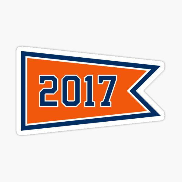 HOU 2017 Pennant Sticker