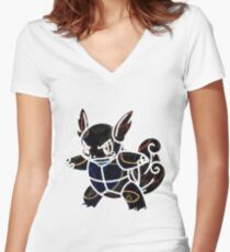 Wartortle Women's Fitted V-Neck T-Shirt