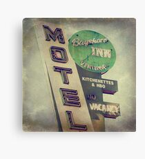 Bayshore Motel Canvas Print
