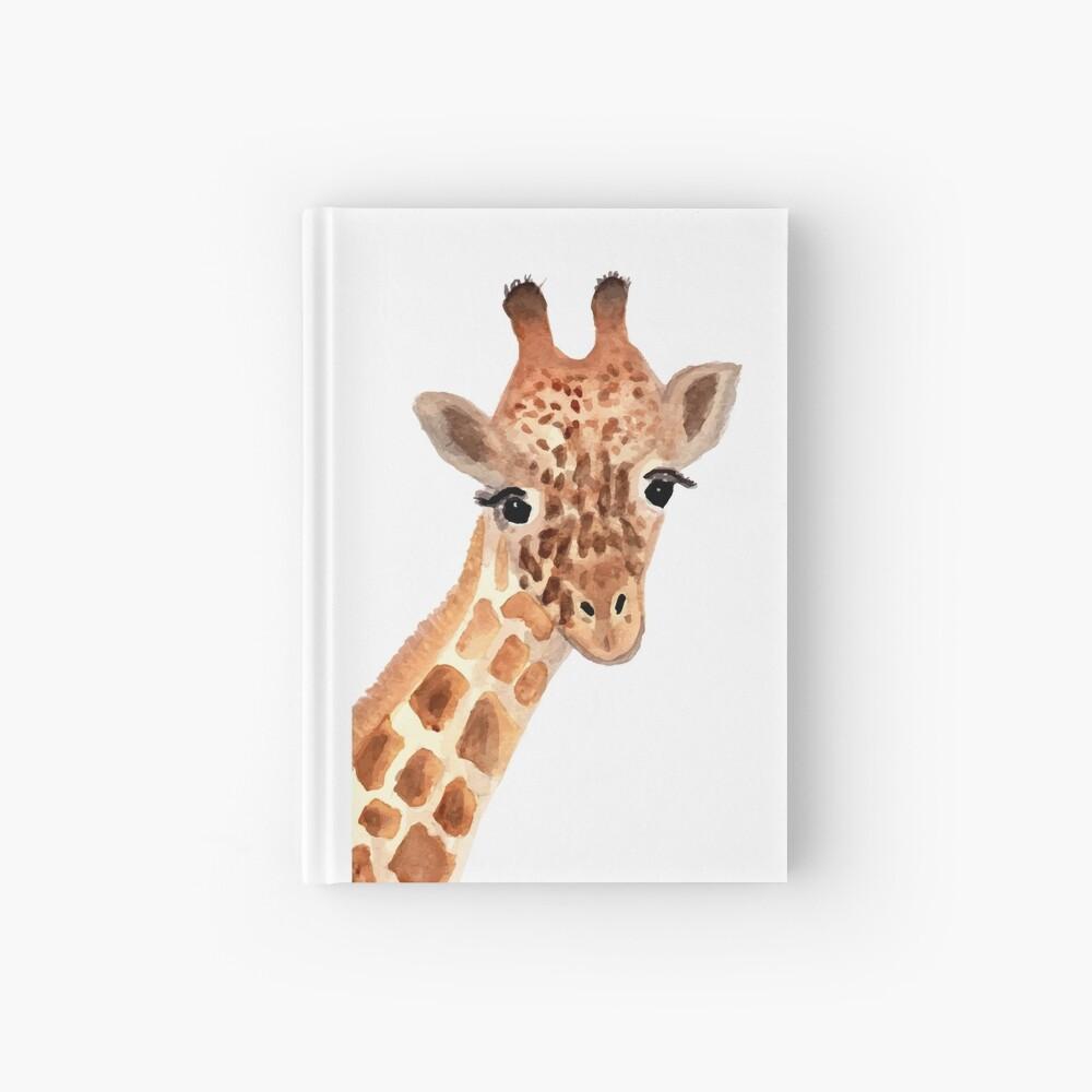 Watercolor Giraffe Hardcover Journal