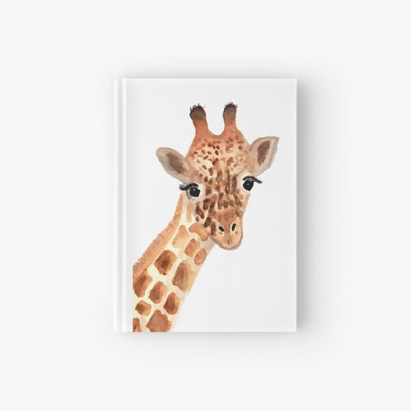 Watercolor Giraffe Hardcover Journal