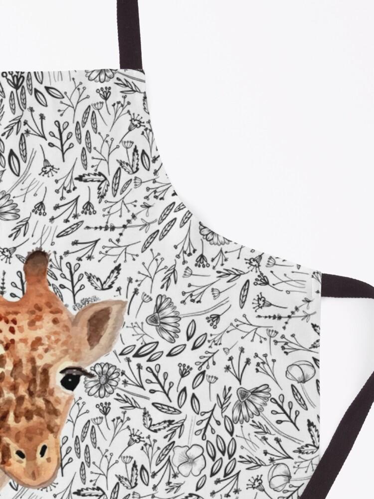 Alternate view of Watercolor Giraffe Apron