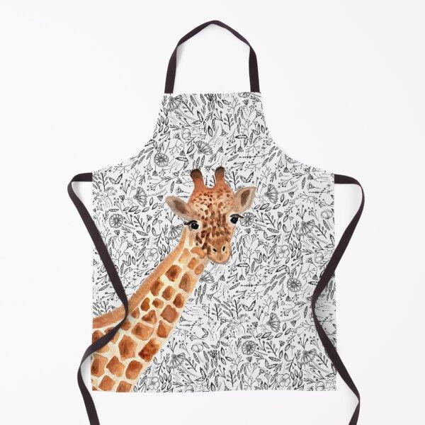 Watercolor Giraffe Apron