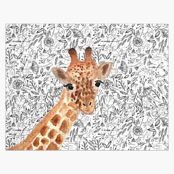 Girafe aquarelle Puzzle
