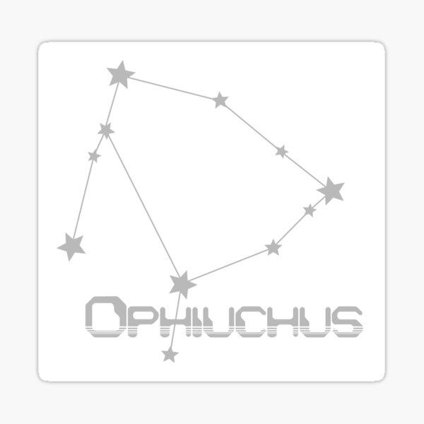 Retro Constellations: Ophiuchus -- Gray Sticker