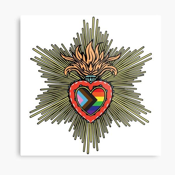 Progress PRIDE Heart Metal Print