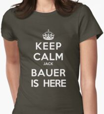 Keep Calm Jack Bauer is Here Womens Fitted T-Shirt
