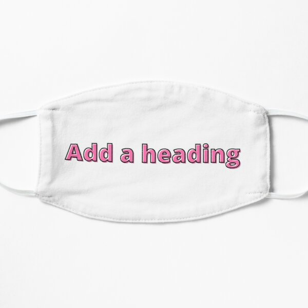 Add a heading default text on a word doc in  pink with a back outline Mask