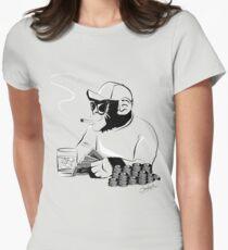 Chimp poker Women's Fitted T-Shirt
