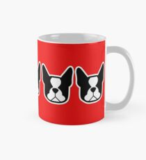 Boston Terrier dogs on the horizontal - black and white Bostons Mug