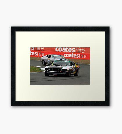 John Bowe - Touring Car Masters - Queensland Raceway Framed Print