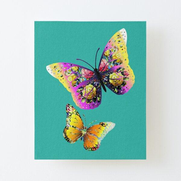 Decorative Butterflies Canvas Mounted Print