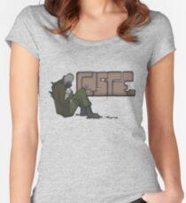Half-Life 2 Caste Graffiti Women's Fitted Scoop T-Shirt