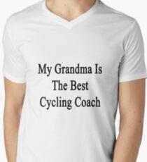 My Grandma Is The Best Cycling Coach  Men's V-Neck T-Shirt