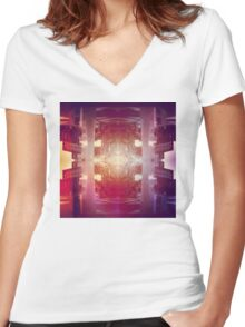 Urban Oracle Women's Fitted V-Neck T-Shirt