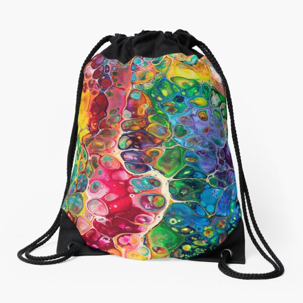 Somewhere Over the Rainbow Drawstring Bag