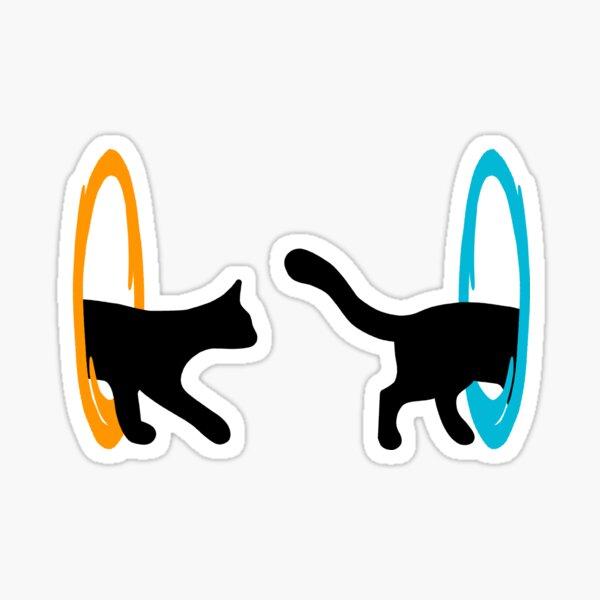 Chat de portail Sticker