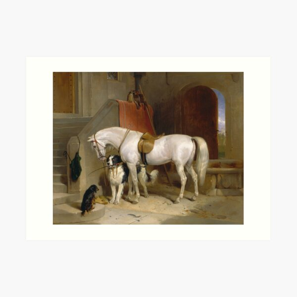 Edwin Landseer- Favourites, The Property Of Prince George Of Cambridge 1834 Art Print