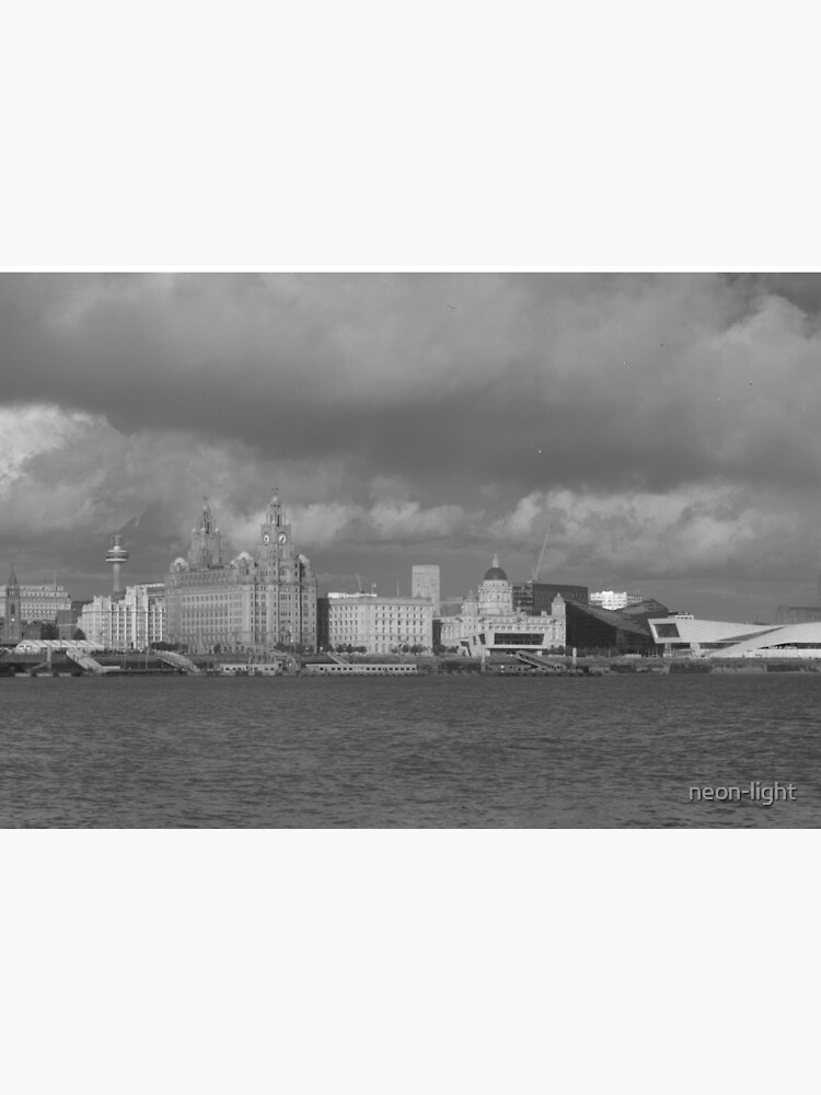 Black and White Liverpool Skyline by neon-light