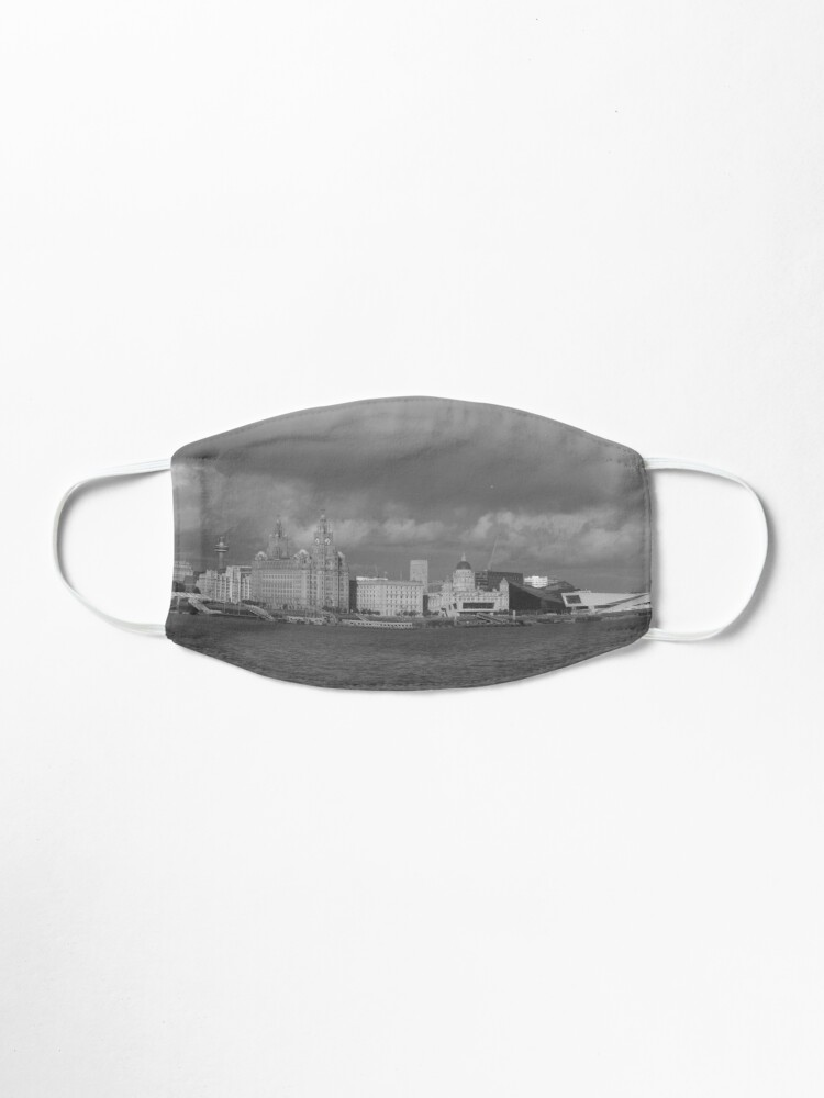 Alternate view of Black and White Liverpool Skyline Mask