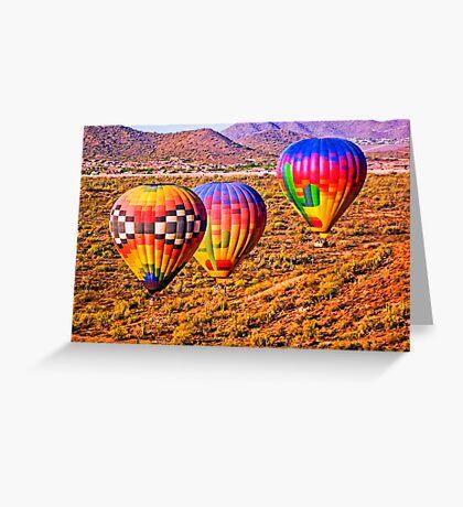 Sonoran Sunrise from a Hot Air Balloon Greeting Card