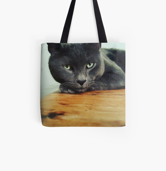 Russian Blue cat All Over Print Tote Bag