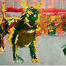 Graffiti Dog by kathryn burke petrillo