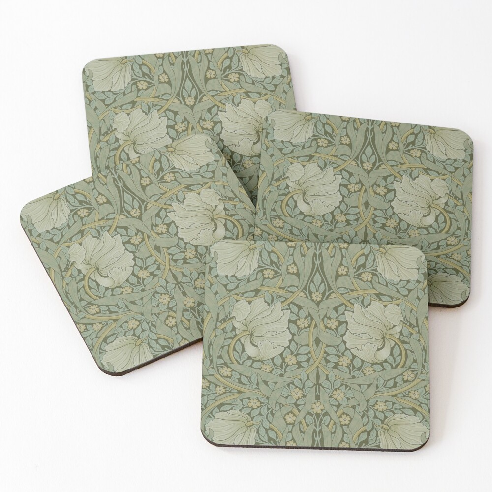 Pimpernel by William Morris, 1876 Coasters (Set of 4)